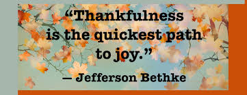 thnakfulness = joy